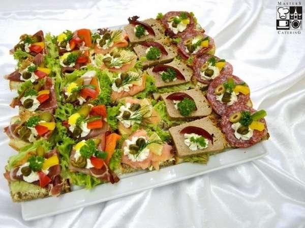 Patera Tradycyjna kanapka bankietowa